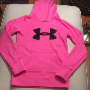 Under Armour women's pink hoodie